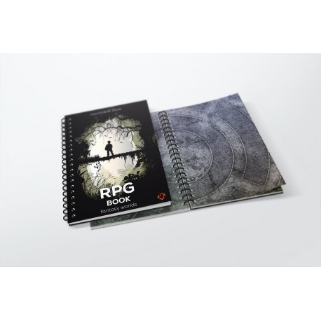 Księga RPG A4 - siatka kwadratów