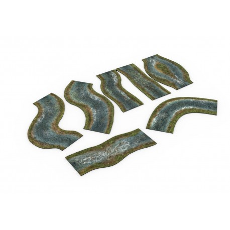 Zestaw modułowych rzek 2D - wiosenne