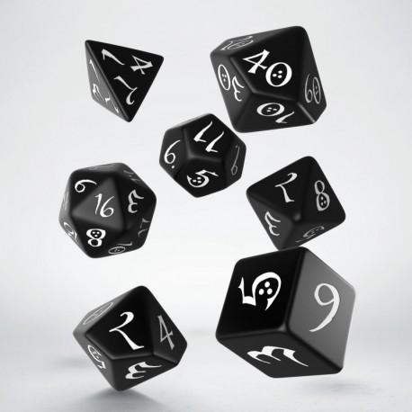 Kości RPG Klasyczne czarno-białe